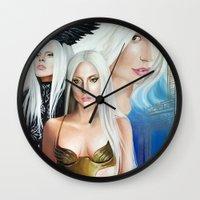 versace Wall Clocks featuring G.U.Y VERSACE GODDESS by CARLOSGZZ