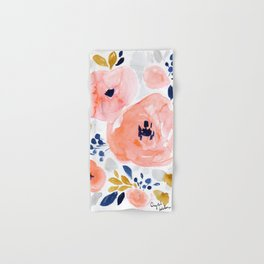 Genevieve Floral Hand & Bath Towel