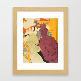 """Henri de Toulouse-Lautrec """"Flirt"""" Framed Art Print"""