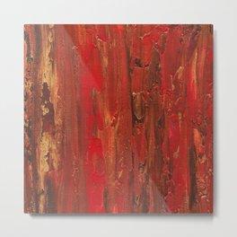 Tree Bark, Abstract Acrylic Metal Print