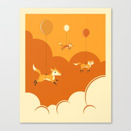 FLOCK OF FOXES Canvas Print