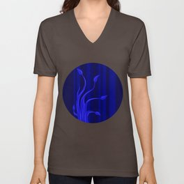 blue tree Unisex V-Neck