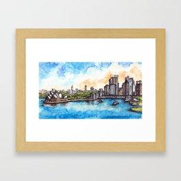 Sydney ink & watercolor illustration Framed Art Print
