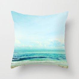 sea sheila beach Throw Pillow