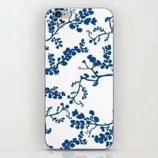 Blue Blossom iPhone & iPod Skin