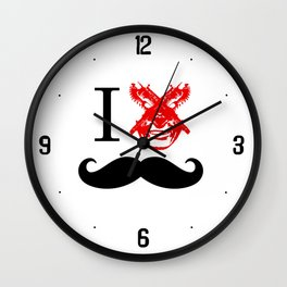 "I ""GzB"" Mustaches Wall Clock"