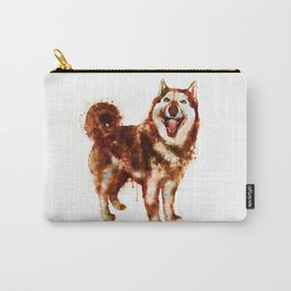 Husky Dog Watercolor Painting Carry-All Pouch