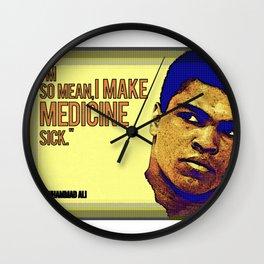 Ali The Greatest Makes Medicine Sick Wall Clock