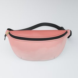 Living Coral Watercolor Ombre (Pantone Living Coral) Fanny Pack