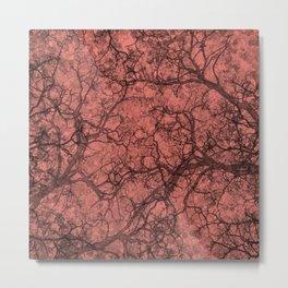 Coral Pink Hunting Camo Pattern Metal Print
