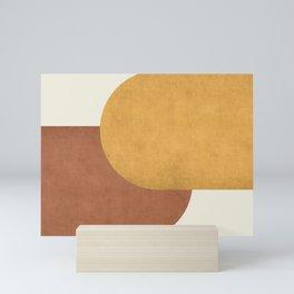 Halfmoon Colorblock - Gold Brown Mini Art Print