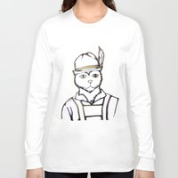 german Long Sleeve T-shirts featuring German Kitty by Sofy Rahman