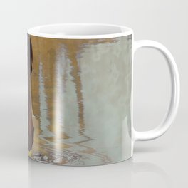 The Watering Hole  - Drinking Percheron Horse Coffee Mug