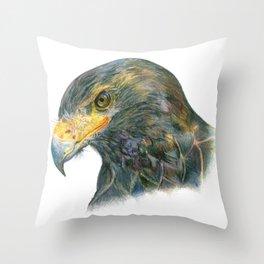 Eagle Portraiture Throw Pillow