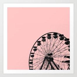 Ferris Wheel (Pink) Art Print