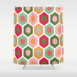 ikat honeycomb tutti fruit #homedecor Shower Curtain