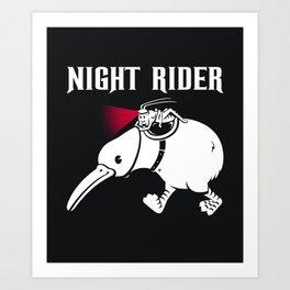 Night Rider Art Print