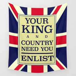Your King and country need you Enlist. Wall Tapestry