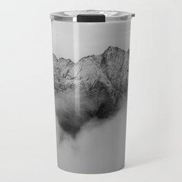 Mountains (Black and White) Travel Mug