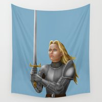knight Wall Tapestries featuring Knight by Egberto Fuentes