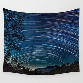 Star trail Wall Tapestry