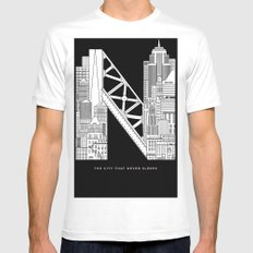 NYC  SMALL Mens Fitted Tee White