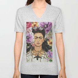 Frida Flower abstract Unisex V-Neck