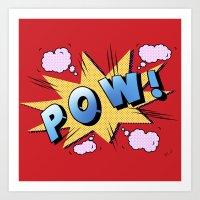 superheroes Art Prints featuring superheroes by mark ashkenazi