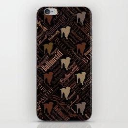 Bullmastiff Dog Word Art pattern iPhone Skin