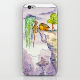 The Lonely Yellow House iPhone Skin