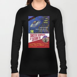 """""""The Sinister Serpents of Saturn VI"""" Movie Poster Long Sleeve T-shirt"""