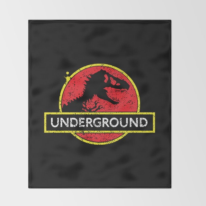 Monsters of the Underground Throw Blanket