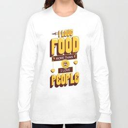 I Love Food Long Sleeve T-shirt