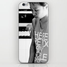 there are too many people here. iPhone Skin