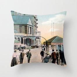 Pier Gates Llandudno Wales 1890 Throw Pillow
