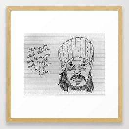 i'm going to ruin my career tonight Framed Art Print