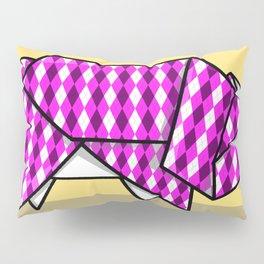 Origami Pig Pillow Sham