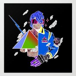 Kiss the Pyramid Art Print