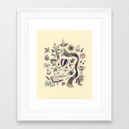 Hufflepuff, Loyal and True Framed Art Print