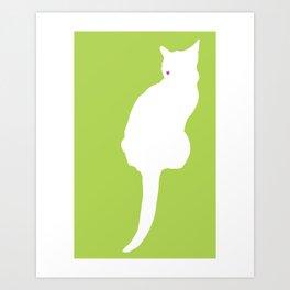 Cat Silhouettes: Chartreux Art Print