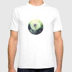 blow away MEDIUM White Mens Fitted Tee