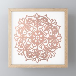 Rose Gold Mandala Redux Framed Mini Art Print