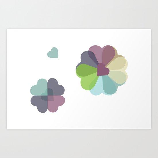 Heartflowers1 Art Print