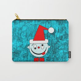 Funny silly Christmas Head poking out tongue Carry-All Pouch