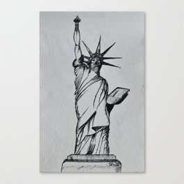 Title:The Statue Of Liberty Sketch Canvas Print