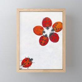 Ladybug meeting Framed Mini Art Print