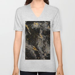 Galaxy (black gold) Unisex V-Neck
