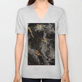 Galaxy (black gold) Unisex V-Neck