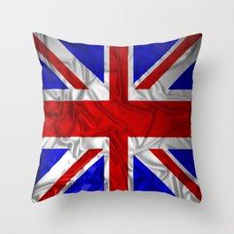 Wrinkled Union Jack Flag Throw Pillow