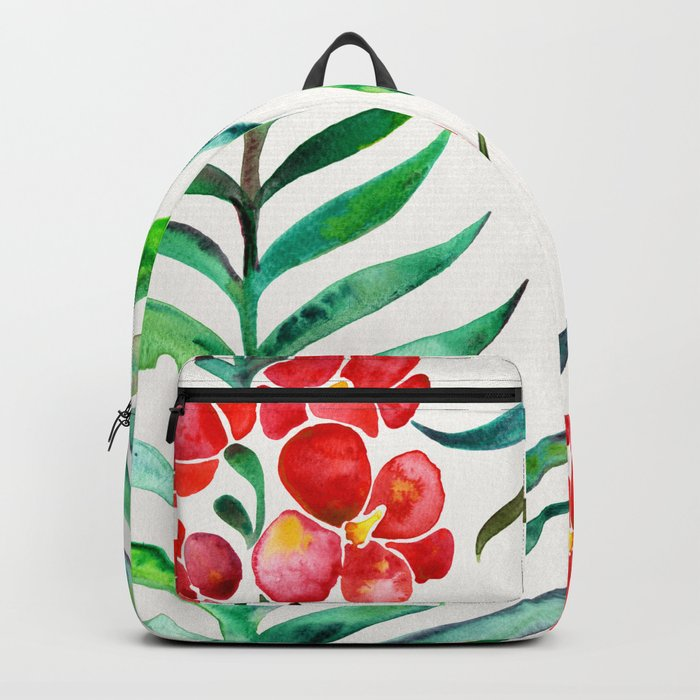 Blooming Orchid – Red & Green Palette Backpack